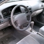 01 Corolla Interior View